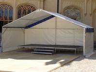 Pronájem mobilní pódium Forum stany velkostany