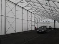 Textilní průmyslová hala 18x57 m, stanové haly, Borgers CS