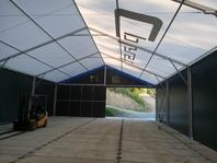 Textilní průmyslová hala 12x20 m, stanové haly, Cplast