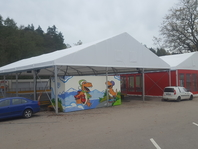 Textilní stanové haly, párty stany, Family park Skalka Ostrava
