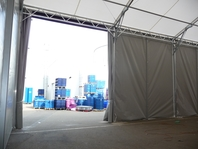 Průmyslová stanová hala 9x20 m, velkostany, Fränkische