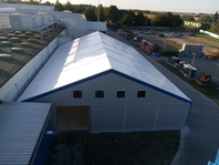 Textilní průmyslová hala 20x30 m, stanové haly, Ljughall