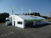 Zastřešení rally Škoda, forum stany, velkostany, přístřešek pro kamión