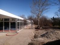 Textilní průmyslová hala, zasklené stanové skladovací haly