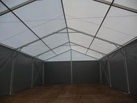 Velkoprostorový stan jako garáž stanové haly