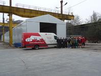 Textilní skladovací hala 10x100m ŠKODA VAGONKA
