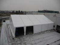 Textilní průmyslová hala, stanové skladovací haly 20x25m