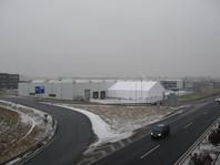 Textilní průmyslová hala, stanové skladovací haly 20x25m forum stany
