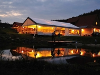 Párty stan Forum Alfa velkostany na firemní večírky svatby
