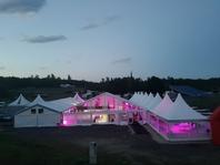Párty stan Forum Alfa velkostany na firemní večírky svatby pronájem MOTO GP