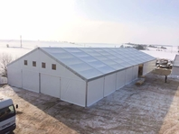 Textilní průmyslová hala, stanové haly 20x50m velkostany