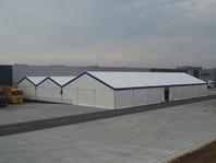 Textilní průmyslová hala, stanové haly velkostany