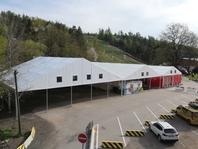 Textilní průmyslová hala, stanové haly, mobilní