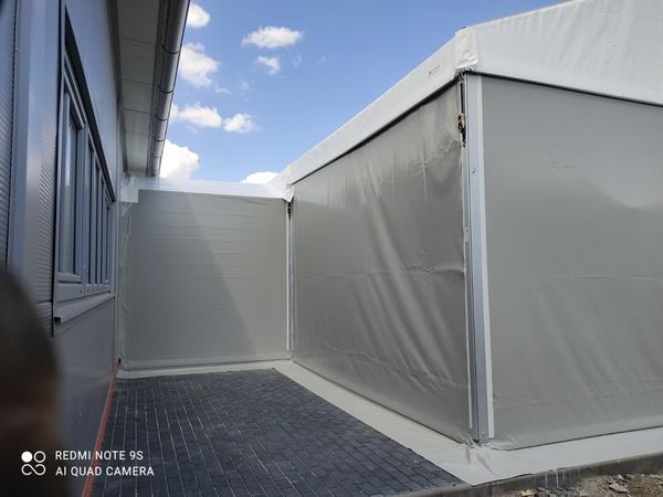 Propojení stanových hal